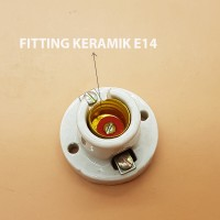 Fitting plafon Bola Lampu Keramik E14