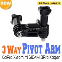 3 Way Pivot Arm Aksesoris GoPro Xiaomi YI SJCAM BPro Kogan Action Cam