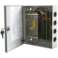 CCTV POWER SUPPLY SENTRAL 12v 10A + SAFETY BOX FUSE + KEY LOCK
