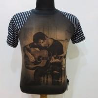 Kaos Tshirt Pria Main gitar Hitam