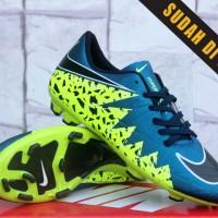 Sepatu Bola Nike Hypervenom II Biru Hijau KW Super (Sepakbola,Soccer