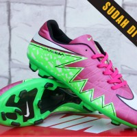 Sepatu Bola Nike Hypervenom II Pink Hijau KW Super (Sepakbola,Soccer