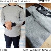 Sweater Fleece Pria   Sweater Rajut Pria   Swater V-neck   Elbow