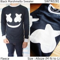 Sweater Fleece Pria   Sweater Rajut Pria   Swater V-neck   Hitam