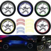 Stiker Reflektif Roda Mobil / Motor dan Sepeda (1 Set 16 Stiker)
