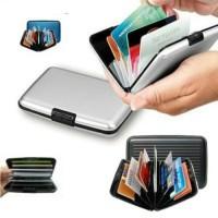 Dompet Kartu Alumunium Anti Air KTP ATM / Card Guard Holder Wallet
