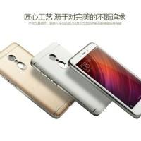 Case Xiaomi Redmi Note 4 Armor Bumper Back Casing Luxury Leather Kulit