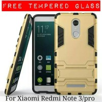 Casing Xiaomi Redmi Note 3 / Pro Armor Ironman + Tempered Glass