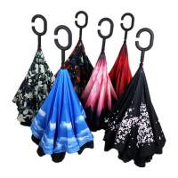 Payung Terbalik Mobil Reverse Innovative Fancy Umbrella Gagang C unik