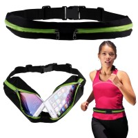Waterproof Sport Belt Single Pocket Tas Pinggang Sabuk Gesper Anti Air - Hijau