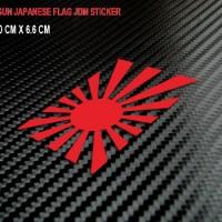 JDM Sticker/Stiker Japanese Rising Sun Flag 01 untuk Mobil, Motor, Hel