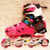 Sepatu Roda Karet TIAN-E 786 Pink