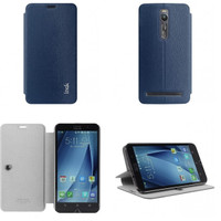 unik Imak Flip Leather Cover Case Zenfone 2 5.5 Inchi Casing telolet S