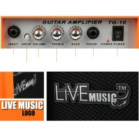 original Live Music TG-10W Electric Guitar Amplifier 1 Port 10W terba<