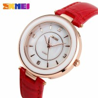 terbaru SKMEI Fashion Casual Ladies Leather Strap Water Resista 2017 S