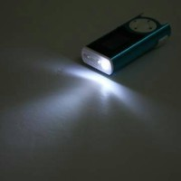 keren Mini MP3 Player TF card with LED Flashlight telolet Limited
