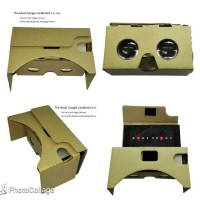 lucu Big Lens Cardboard VR 2nd Generation for Smartphone up keren L