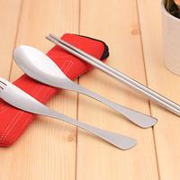 Set Peralatan Makan Sendok, Garpu, Sumpit Souvenir STAINLESS STEEL
