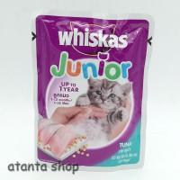 Whiskas Pouch Junior Tuna 85g / kornet kucing sachet