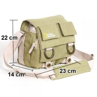 Tas Kamera Selempang DSLR National Geographic Canvas Bag - NG2345 - khaki