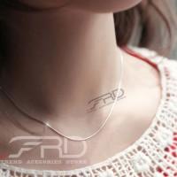 Kalung Wanita Cantik Bulat Titanium Silver-Necklace Korea Choker 1,5mm