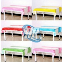 taplak meja pesta motif polkadot / table cover party
