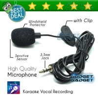 3.5mm Microphone with Clip for Smartphone / Laptop / Tablet PC
