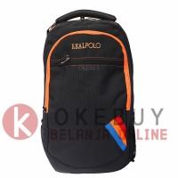 Tas Ransel Real Polo 6356 Black Ransel/Kantor/Sekolah/Backpack