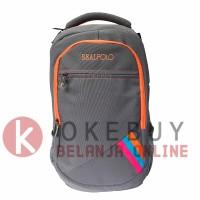 Tas Ransel Real Polo 6356 Grey Ransel/Kantor/Sekolah/Backpack