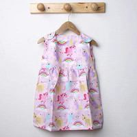 Unicorn pink dress anak favorit fashion casual bagus