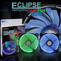 Fan CPU, Fan Casing 12cm ALSEYE Eclipse Led Ring - Hijau