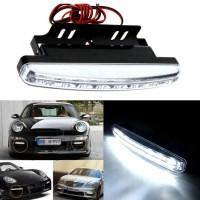 DRL - Lampu Fog Light Mobil Daytime LED 6000K 12V Sepasang 2Pcs Murah