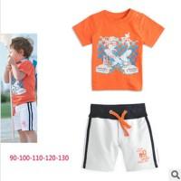 Baju Anak - Orange White Set (BO-483)