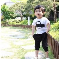 Baju Anak - Black Car Set (BO-284)