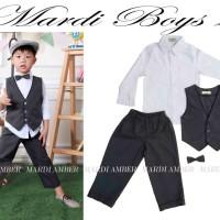 Baju Anak - MA Vest Set Gray (BO-481)