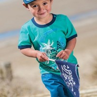Baju Anak - Green Blue Set (BO-484)