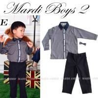 Baju Anak - MA Gray Long Set (BO-480)