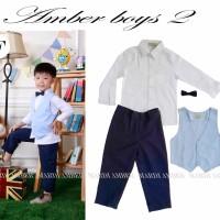 Baju Anak - MA Vest Set Blue (BO-481)