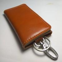dompet stnk kulit lipat tiga warna tan | gantungan kunci mobil motor