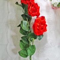 bunga plastik hias artificial artifisial mawar rose setangkai BESAR A4