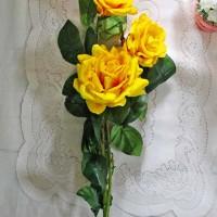 bunga plastik hias artificial artifisial mawar rose setangkai BESAR A2