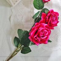 bunga plastik hias artificial artifisial mawar rose setangkai BESAR A6