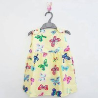 Butterfly Yellow Dress anak favorit fashion casual bagus