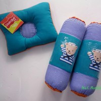 DIALOGUE Set bantal guling bantal peang bayi motif sailor biru