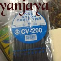 KSS NYLON CABLE TIES CV-200/20CM X 3,6MM HITAM