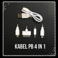 kabel pb 4in1 set mini micro usb ipad iphone4 nokia power bank charger
