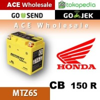 Aki kering gel CB 150 R Honda MOTOBATT MTZ6S accu motor u/ GS Yuasa