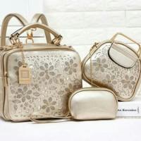 Tas wanita GV Pricella 169995 branded 3in1 ransel fashion import