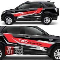 stiker mobil cutting striping racing TRD Ralliart sticker keren murah