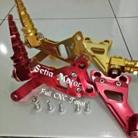 Footstep Fu/Step Belakang Satria Fu Full Aluminium PNP+Baut L